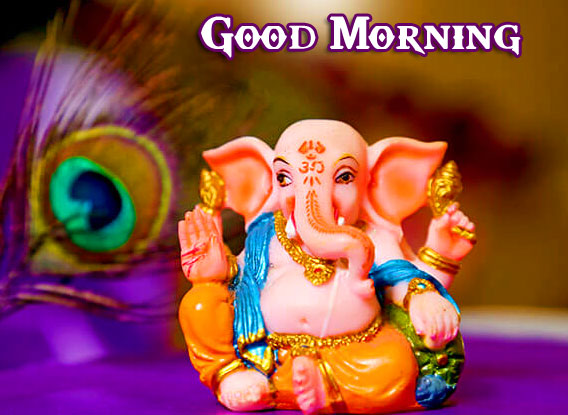 Bal Lord Ganesha Good Morning Pics Wallpaper free Download
