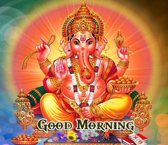 Lord Ganesha Good Morning Wallpaper Free Download