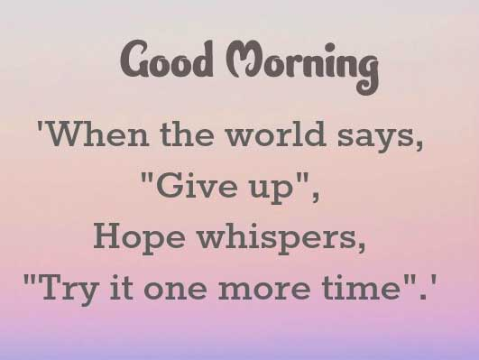 English Thought Good Morning Images Pics for Facebook / Whatsapp