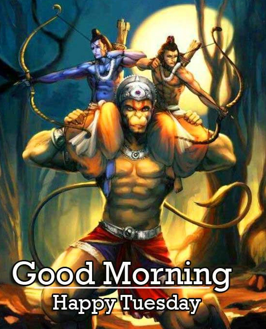Good Morning Tuesday Hauman JI Images pic Wallpaper Download