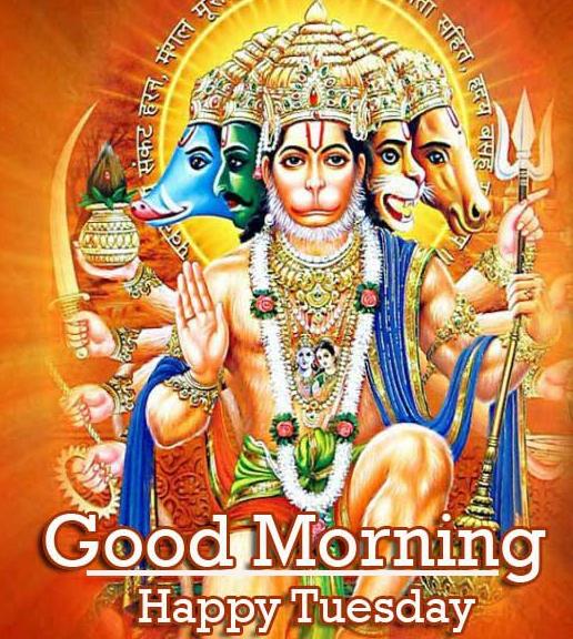 Good Morning Tuesday Hauman JI Images Wallpaper for Whatsapp