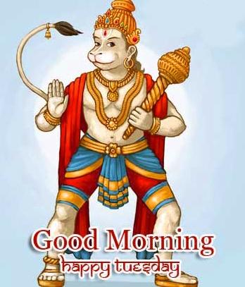 Good Morning Tuesday Hauman JI Images Pics With Bal Ganesha