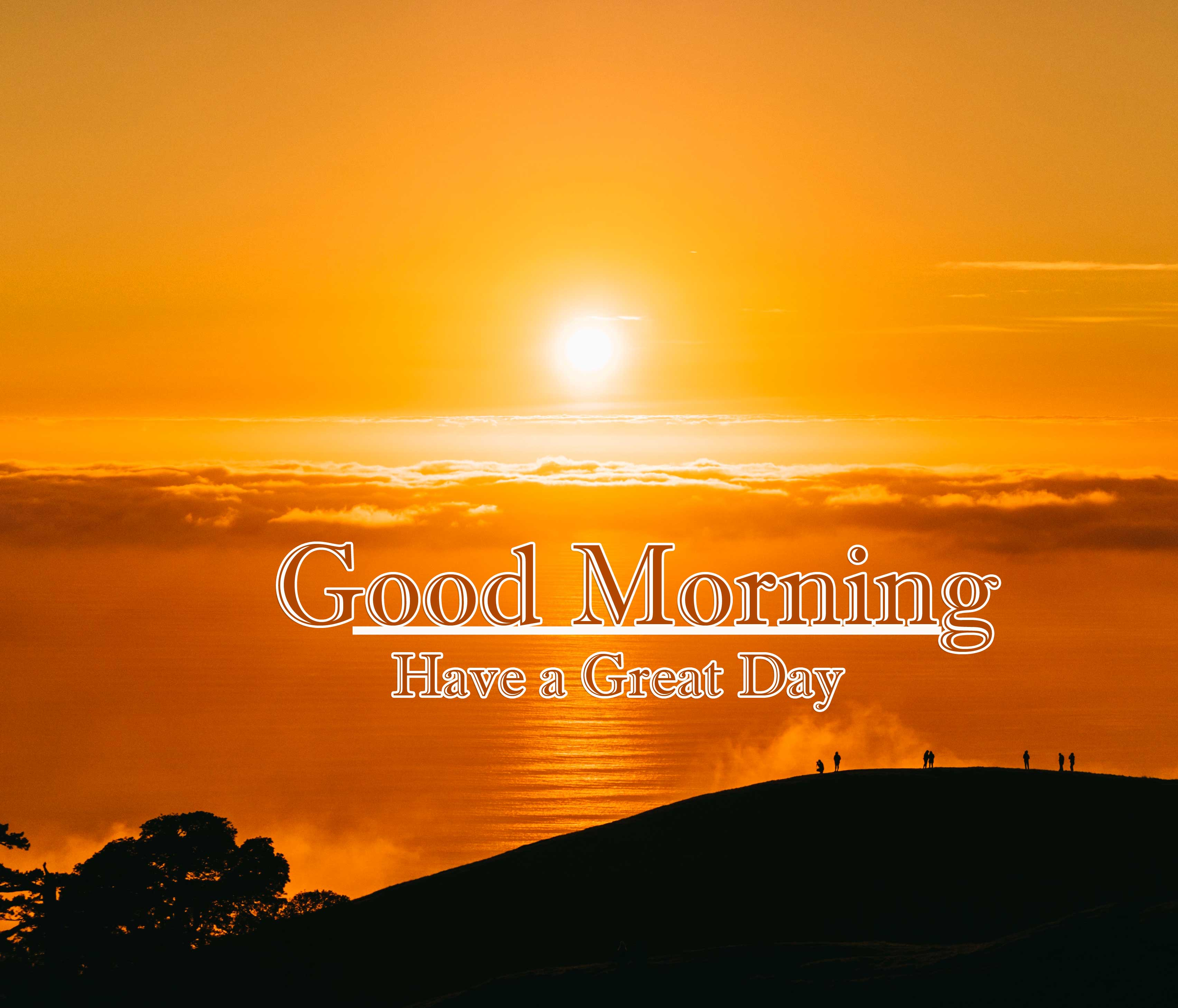 Good Morning Wishes With Sunrise Pics Wallpaper Download