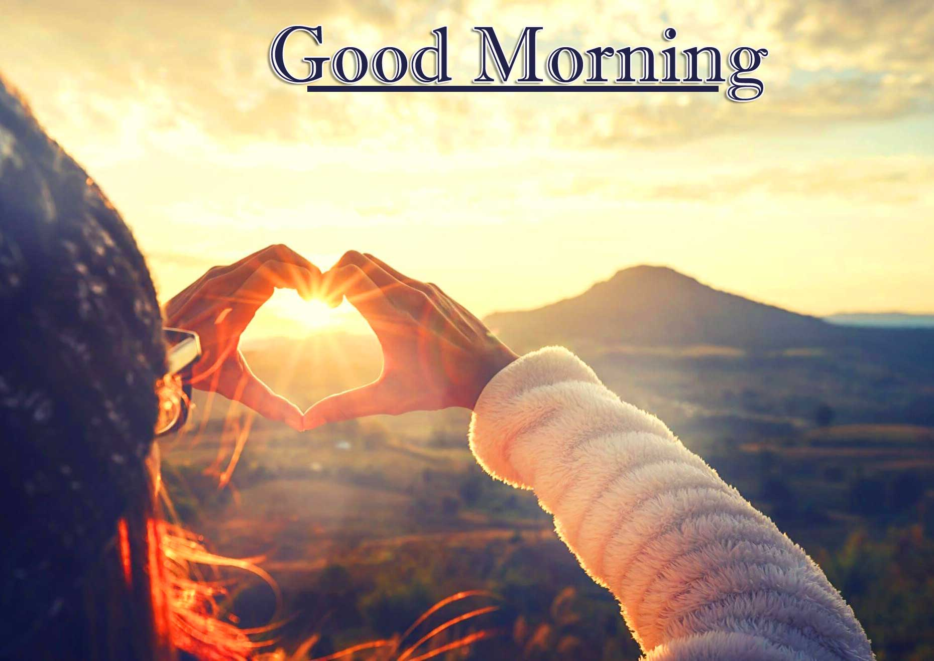 Good Morning Wishes With Sunrise photo Free Download