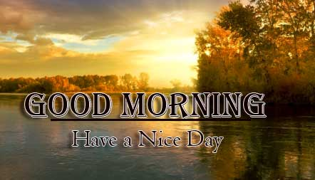 Good Morning Wishes With Sunrise Wallpaper Free Download