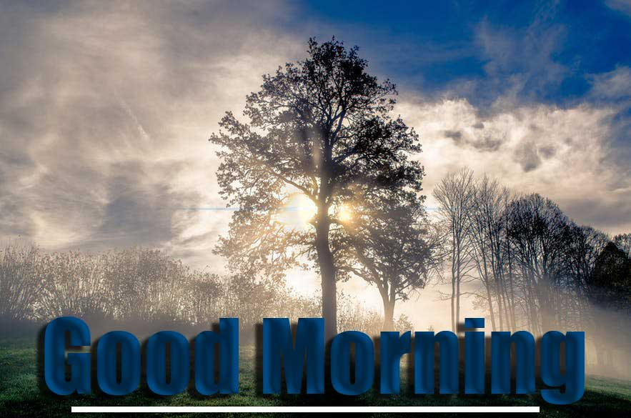 Good Morning Wishes With Sunrise Wallpaper Free for Facebook