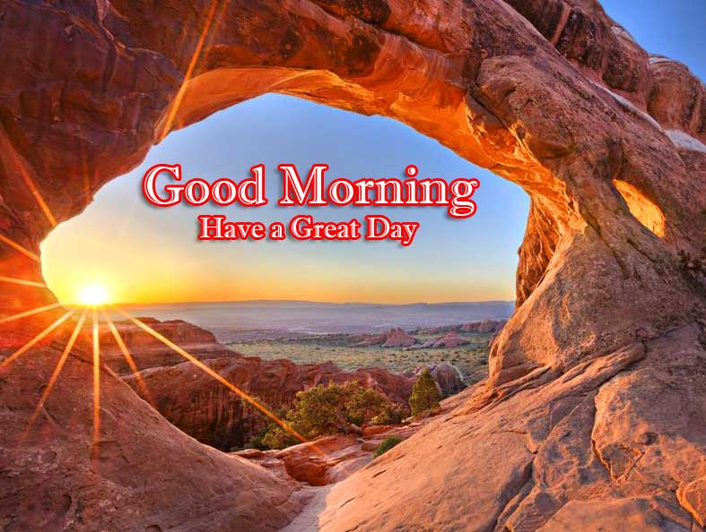 Good Morning Wishes With Sunrise Photo for Facebook