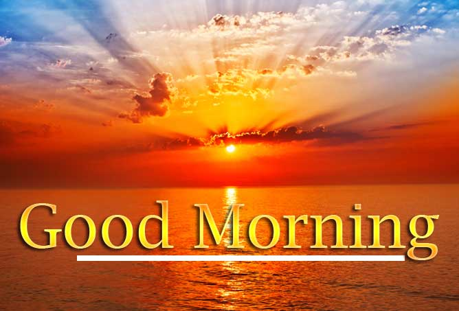 Beautiful Free Good Morning Wishes With Sunrise Pics photo Downward