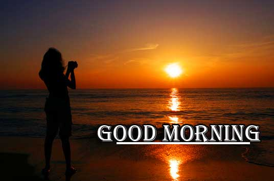 Beautiful Free Good Morning Wishes With Sunrise Pic With Girls