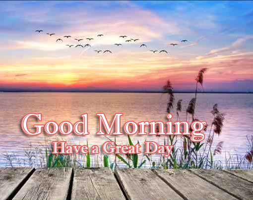 Good Morning Wishes With Sunrise Wallpaper for Facebook