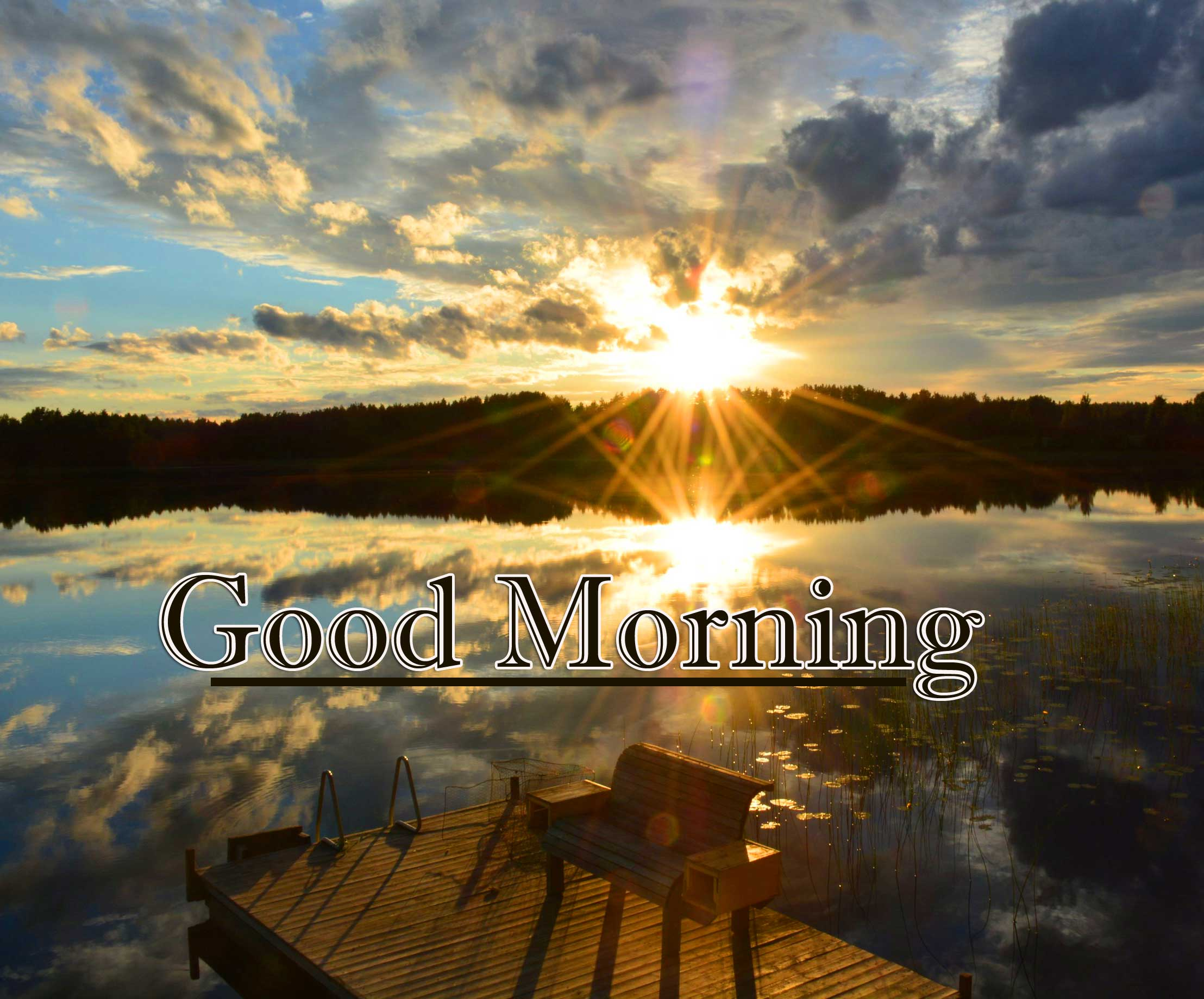 Beautiful Free Good Morning Wishes With Sunrise Pics Wallpaper Download
