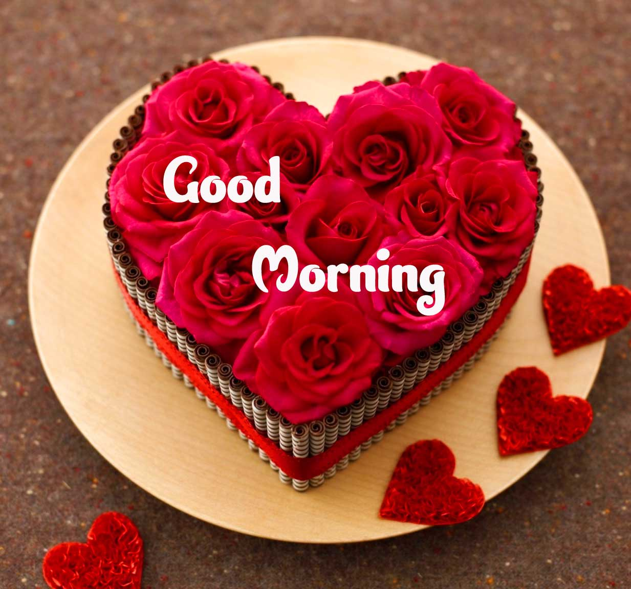 Sweet New Beautiful Red Rose Good Morning Photos Pics Download