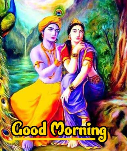Hindu God Radha Krishna 2021 Good Morning Images Pics Download