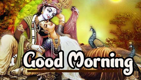 2021 Good Morning Images Pics Wallpaper With Radha Krishna