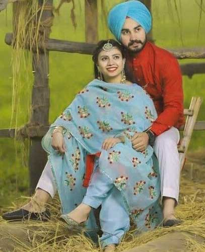 Cute Punjabi Couple Photo Pics