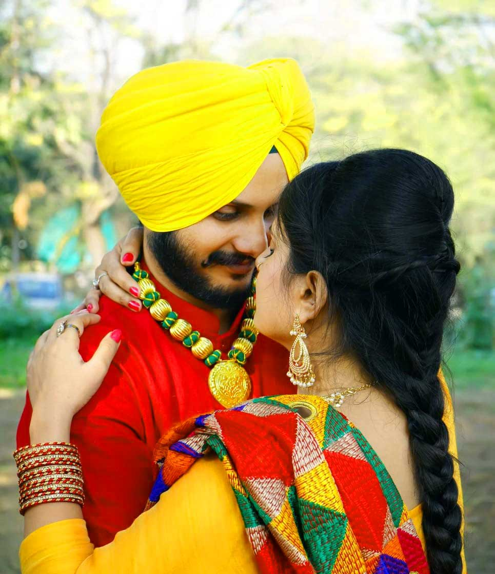 Cute Punjabi Couple Photo
