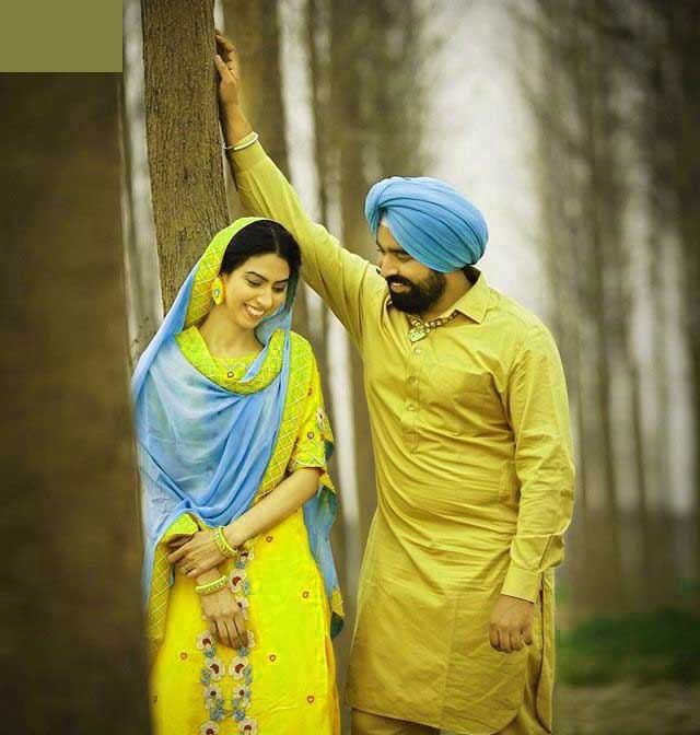 Cute Punjabi Couple Pics Wallpaper