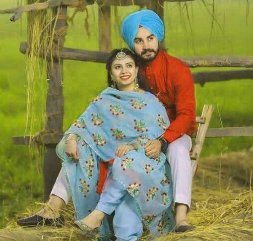 Cute Punjabi Couple Wallpaper Images