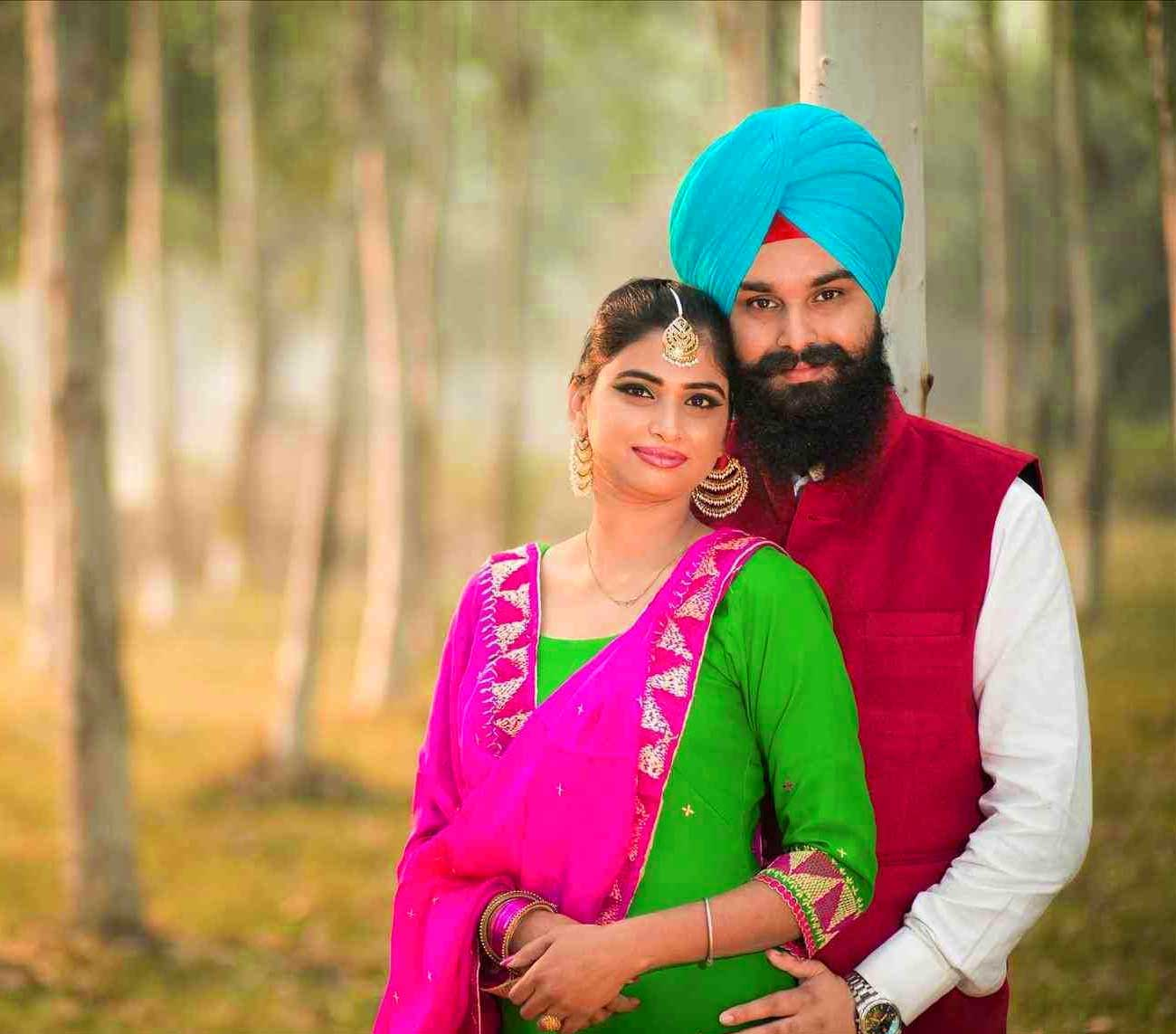 Punjabi Couple Photo Images Free