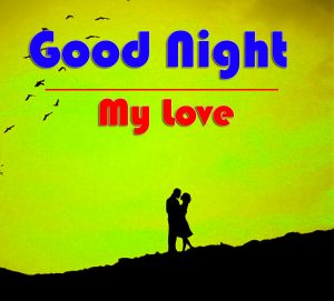 Free Good Night Wallpaper With Love Couple