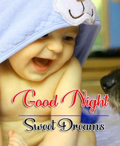 Free Good Night Wallpaper photo With Cute Baby
