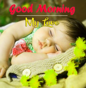 Good Morning Images Photo With Cute Baby Girls