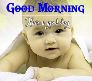 Good Morning Images Wallpaper With Cute Baby