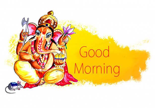 345+ Lord God Ganesha Ji Good Morning Images HD Download