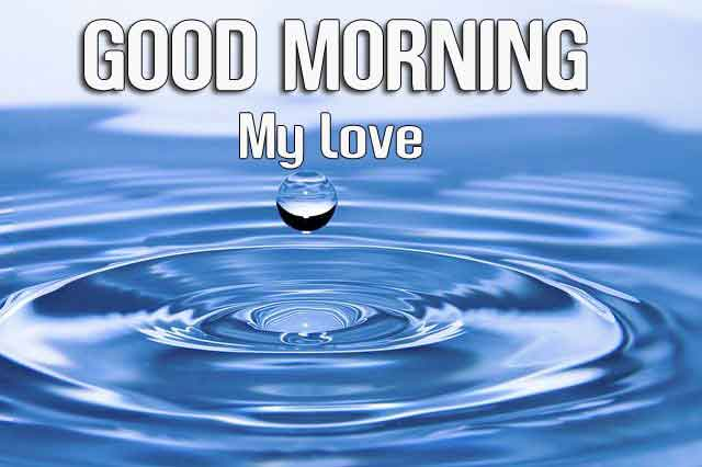 drop of water Good Morning images hd