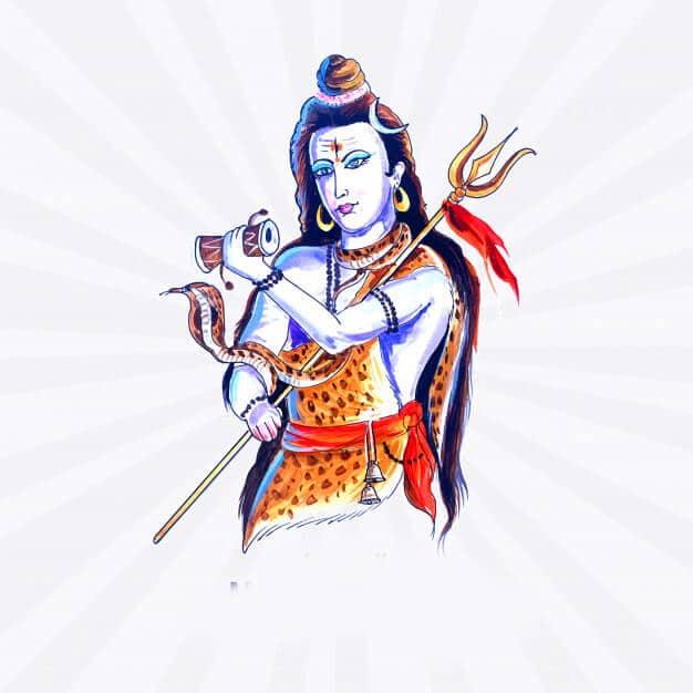 hindu lord shiva indian god maha shivratri card 1035 18446