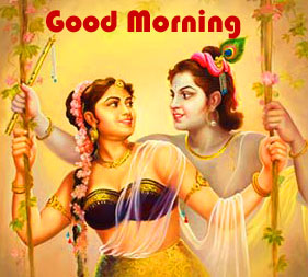 Radha Krishna Good Morning Images Pictures Wallpaper Photo pics HD Download