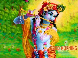 Krishna Good Morning Photo Wallpaper Download