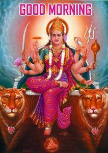 Maa Durga Good Morning Wallpaper Free Download
