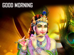 HD God Krishna Good Morning Photo Pics Download