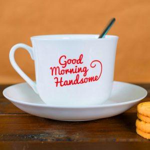 Good Morning Tea Cup Photo Wallpaper Download