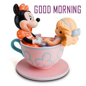 Good Morning Tea Cup Images With Cartoon