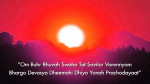 Gayatri Mantra Hindi Images Photo Pictures With Sunrise