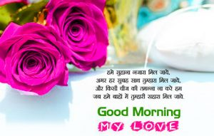 HD Good Morning Images Photo Wallpaper With Hindi Quotes