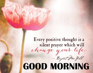 Good Morning Thoughts Images In English With Flower
