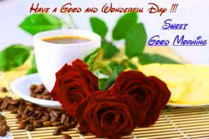Whatsaap & Facebook Good Morning Images Photo Pics With Red Rose