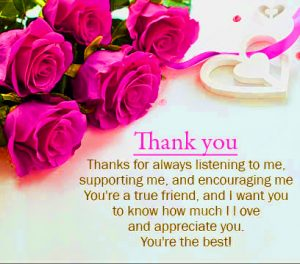 Thank You Images Photo Pics With Red Rose With Quotes