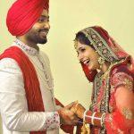Sweet Wedding Punjabi Couple Images Download
