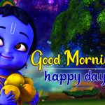 Cartoon Krishna God Good Morning Pics Images Download