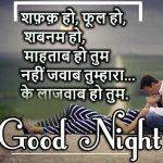 Hindi Shayari Good Night Images 65