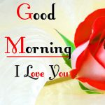 Morning Wishes Images With Red Rose Photo for Facebook Status