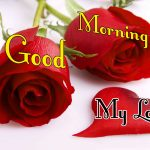 Morning Wishes Images With Red Rose Photo Download