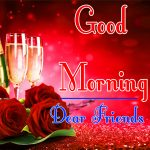 Morning Wishes Images With Red Rose Pics Download